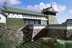 津山譲 Japanese Castle, Minecraft Ideas, Japanese Architecture, Castles, Restoration, Military, Mansions, House Styles, Garden