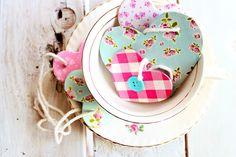 DIY wooden heart gift tags for wrapping