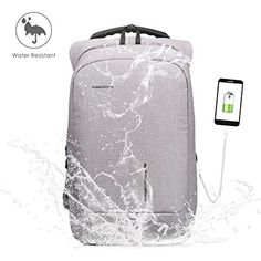 Ultra Protective: This Backpack apply anti-theft design techology. Zipper of main pocket is fully hidden in the back of this bag, no theft will easily open your Laptop Rucksack, Computer Backpack, Usb, Matte Material, Computer Accessories, Suitcase, Backpacks, Amazon, Computers