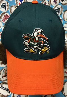 Miami Hurricanes Adjustable Velcro Cap by CoryCranksOutHats on Etsy