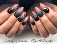 30 Black Nail Designs Who said that black nail polish had to look like a mess? We give you our top black nail polishes & show you what you can do with them with 30 black nail designs Black Nail Designs, Nail Art Designs, Nails Design, Hair And Nails, My Nails, Black Ombre Nails, Nagellack Trends, Autumn Nails, Manicure E Pedicure