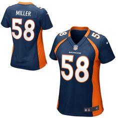 Women's Denver Broncos Von Miller Nike Navy Blue Game Jersey, size small