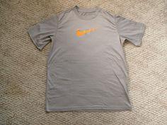 Nike Dri-Fit gray orange swoosh Tee Top NWoT L 12-14 new #Nike