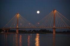 Alton Bridge across the Mississippi, Missouri/Illinois....I cross it twice a day!