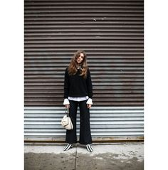 Linn Eklund in Chambéry Trousers http://www.toteme-nyc.com/shop/ss16/chambery-trousers?color=black