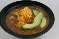 I love this black bean soup in the crock pot... So amazingly delicious that I make it @ least once a month!