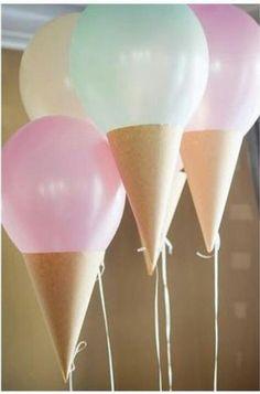 Ice cream balloons. Birthday surprises for ice cream lovers!