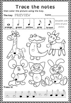 156 best Tracing Music Notes Worksheets images on