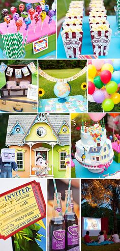 UP / movie night outdoor party idea. So cute or another movie theme