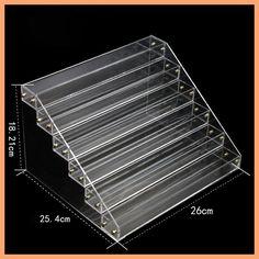Nail Polish Acrylic Display Stand Rack Vernis Ongle Varnishes Tool Showcase Clear Shelf Storage Racks Holder Shelves Organizador
