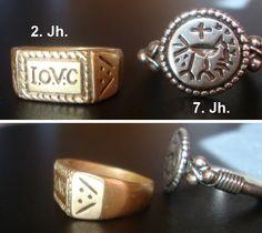 Ein antiker und ein frühmittelalterlicher Ring im Vergleich