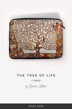 """The Tree of Life"" by Gustav Klimt Gustav Klimt, 7 And 7, Back To Black, Tree Of Life, Laptop Sleeves, Snug, Zip Around Wallet, Notebook Covers"