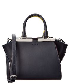 FENDI FENDI MINI 3JOURS LEATHER SATCHEL'. #fendi #bags #shoulder bags #hand bags #leather #satchel #lining #