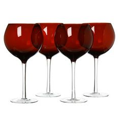 I have these exact red wine goblets.  Use them for Christmas.  Love.