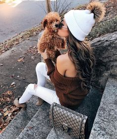 Love the hat, and the puppy