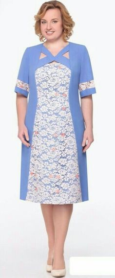 Simple Dresses, Pretty Dresses, Plus Size Dresses, Beautiful Dresses, Ladies Day Dresses, Embroidery Suits Design, Sunday Dress, Dress Outfits, Fashion Outfits