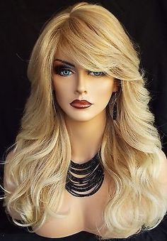 LONG WAVY HEAT FRIENDLY WIG HIGHLIGHTED T27/613 BLOND DUET GORGEOUS SEXY 203