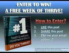 Enter to win a 1 week trial of THRIVE!