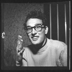 "olivethomas: ""Buddy Holly, 1950s """