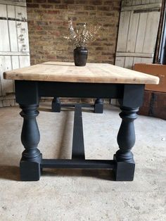 82 The Everly Large Farmhouse Dining Table – Farmhouse Room – Farmhouse table diy Painted Farmhouse Table, Farmhouse Dining Room Table, Farmhouse Kitchen Tables, Farmhouse Furniture, Dining Room Furniture, Dining Tables, Raw Furniture, Dining Rooms, Diy Kitchen