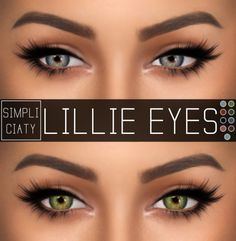 Sims 4 Updates: Simpliciaty - Eyes : Lillie Eyes, Custom Content Download!