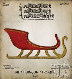2014 designs includes this sleigh sized to be filled with retro package dies and the prancing reindeer is also sized to pair with it