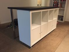 Expedit 2x4 bookcase vika amon table top casters from hardware store screw - Bibliotheque cube ikea ...