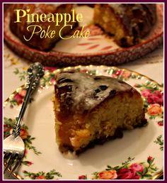 sweet tea and cornbread, poke cakes, bundt cake, pineappl poke