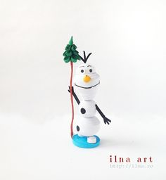Olaf - quilling miniature Christmas