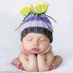 Newborn pic idea...i have a little newsboy cap that would be cute!
