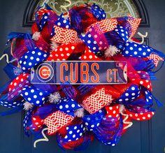 Chicago Cubs Mesh Wreath