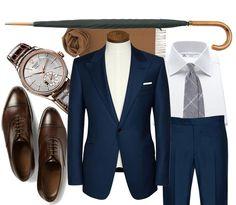 ' — Style Guide Gentleman's Essentials Der Gentleman, Gentleman Style, Best Mens Fashion, Mens Fashion Suits, Sharp Dressed Man, Well Dressed Men, Style Costume Homme, Terno Slim, Moda Formal
