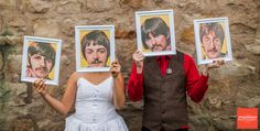 Awesome!     We should do this for the wedding party pictures but use star wars characters!