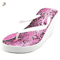 Steve Madden Abssolut Women US 8 White Wedge Sandal - Steve madden pumps for women (*Amazon Partner-Link)