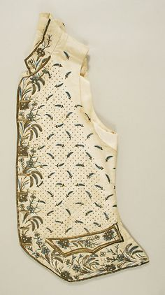 Court suit - French late 18th - early 19th century, waistcoat