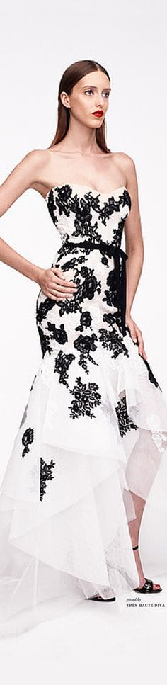 ❖ The Black & White Wardrobe ♠️Monique Lhuillier Resort 2015