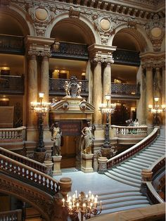 The stunning Paris Opera House. #MostBeautifulArchitecture #OperaHouse