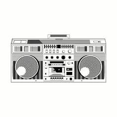 Boombox - Music - T-Shirt   TeePublic