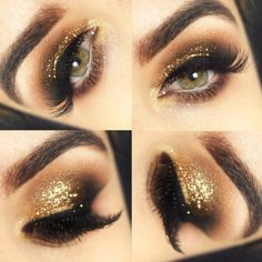 Image result for gold glitter eyeshadow