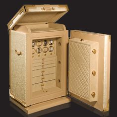 DOTTLING PAULINE LUXURY SAFE   Made to the greatest precision, finished in the manufactory by means of elaborate craftsmanship, and with almost limitless customisability when it comes to surface materials and interior fittings   See more at: www.bocadolobo.com #luxurysafes #luxuryideas