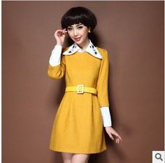 Aliexpress.com : Buy New arrival fashion sweet twinset woolen dresses women's boutique set 2013 autumn and winter turn down collar slim women's on wantong shopping. $42.44