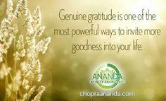 Depak on gratitude