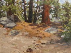 """Ridge Sketch"" - Original Fine Art for Sale - © Karen Werner"