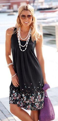 Volné letní šaty Amelia - černéPošta Zdarma