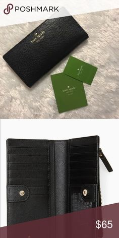 Kate Spade Wallet Brand new with tags Kate Spade Clip Wallet. Black pebbled leather. kate spade Bags Wallets