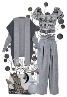 """""""~~ Shades of Gray ~~"""" by queenofthegypsies ❤ liked on Polyvore featuring STELLA McCARTNEY, Ally Fashion, MaxMara, Elizabeth and James, Clinique, Les Parfums De Rosine, Carolina Glamour Collection and M&Co"""