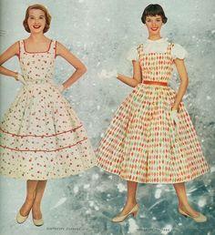 Summer dress styles of 1955 Tumblr
