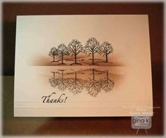 Card using the Northwoods stamp set from Gina K Designs This could work nicely with Lovely as a Tree