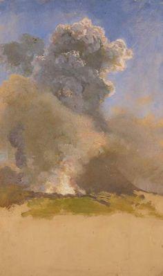 Giuseppe de Nittis (Italie, 1846-1884) – Éruption du Vésuve II (1872) Museo Pinacoteca Comunale G. de Nittis, Barletta, Italie