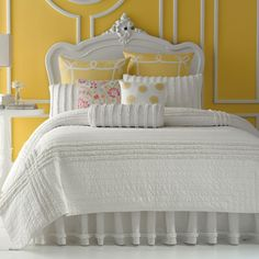 Cuddle Me Cozy, Mellow Yellow Cotton Bedding, Quilt Bedding, Twin Quilt, Comforter, Bedding Sets, Cozy Bedroom, Bedroom Decor, White Bedroom, Bedroom Colors
